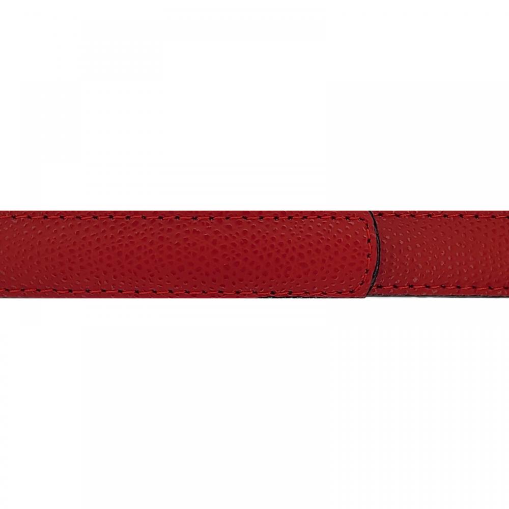 Cuir 20 mm grainé rouge