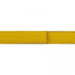 Cuir 20 mm grainé jaune