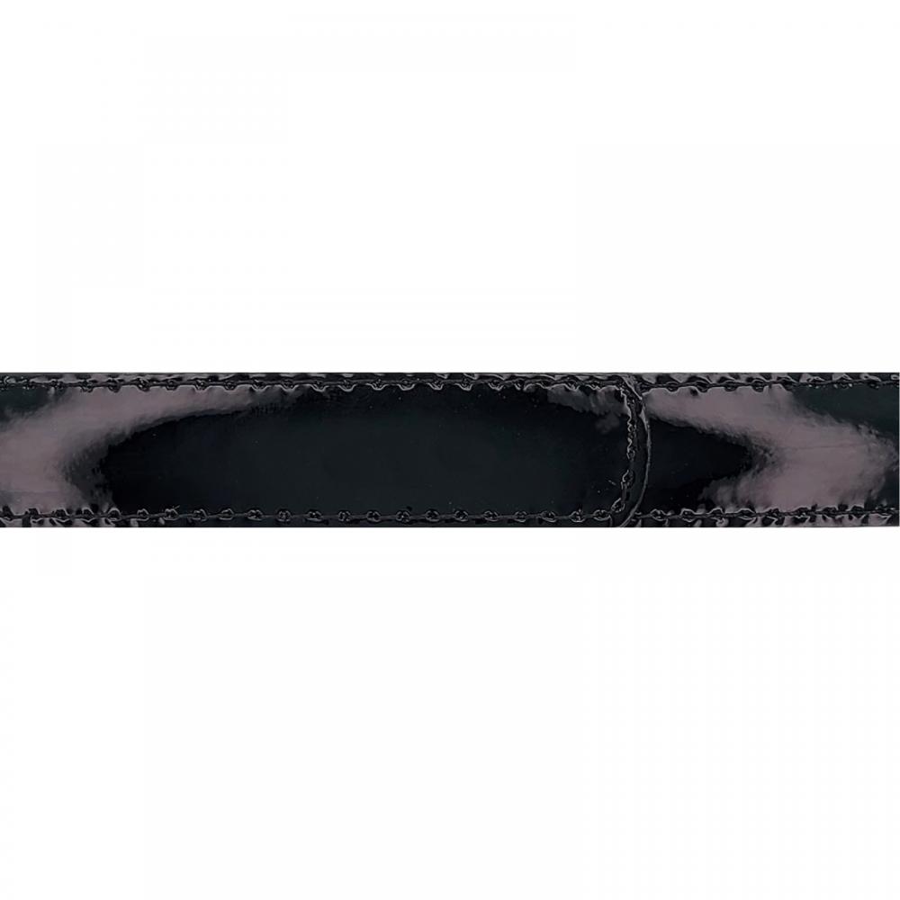 Cuir 20 mm vernis noir