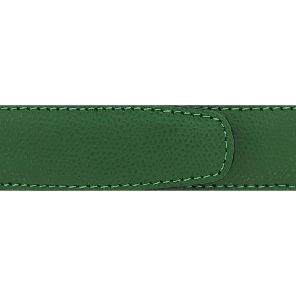 Cuir 30 mm grainé vert