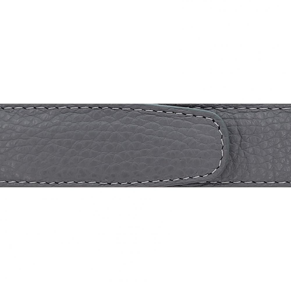 Cuir 30 mm souple gris