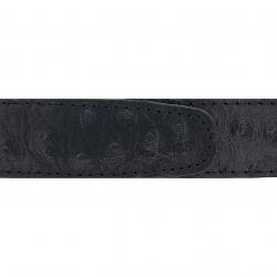 Cuir 30 mm façon autruche noir