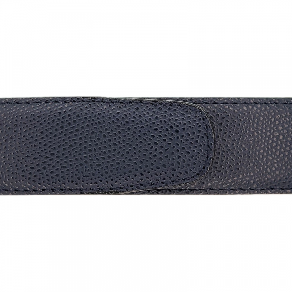 Cuir 35 mm grainé bleu marine
