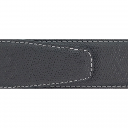 Cuir 40 mm grainé gris foncé