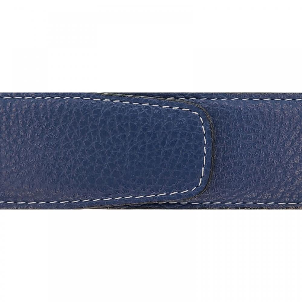 Cuir 40 mm souple bleu marine