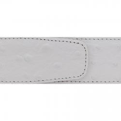 Cuir 40 mm souple façon autruche blanc