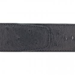 Cuir 40 mm façon autruche noir