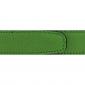 Ceinture cuir grainé vert pomme 30 mm - Roma argent