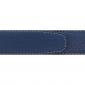 Ceinture cuir souple bleu marine 30 mm - Roma or