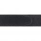 Ceinture cuir souple noir 30 mm - Côme argent