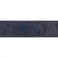 Ceinture cuir façon autruche bleu marine 30 mm - Côme argent