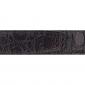 Ceinture cuir façon croco marron 30 mm - Roma or