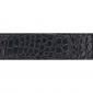 Ceinture cuir façon croco noir 30 mm - Porto-fino argent