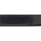 Ceinture cuir façon lézard noir 30 mm - Roma argent