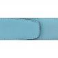Ceinture cuir grainé bleu ciel 40 mm - Roma argent