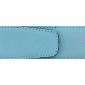 Ceinture cuir grainé bleu ciel 40 mm - Porto-fino argent