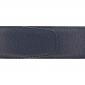 Ceinture cuir grainé bleu marine 40 mm - Milano argent