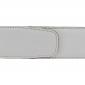 Ceinture cuir souple blanc 40 mm - Milano argent