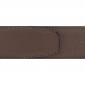 Ceinture cuir grainé marron clair 40 mm - Milano or
