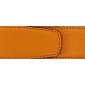 Ceinture cuir grainé orange 40 mm - Milano argent