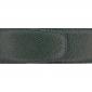 Ceinture cuir grainé vert foncé 40 mm - Porto-fino argent