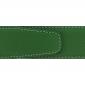 Ceinture cuir grainé vert 40 mm - Milano mate