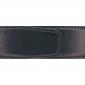 Ceinture cuir lisse noir 40 mm - Milano mate