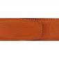 Ceinture cuir souple orange 40 mm - Milano argent