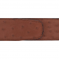 Ceinture cuir façon autruche marron clair 40 mm - Roma or
