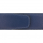 Ceinture cuir souple bleu marine 40 mm - Roma mate