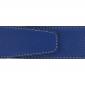 Ceinture cuir souple bleu roi 40 mm - Porto-fino or