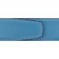 Ceinture cuir souple bleu ciel 40 mm - Roma argent