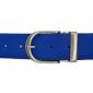 Ceinture cuir grainé bleu roi 40 mm - Roma mate