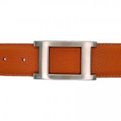 Ceinture cuir souple orange 40 mm - Porto-fino mate