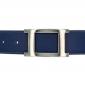 Ceinture cuir souple bleu marine 40 mm - Porto-fino argent