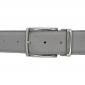 Ceinture cuir souple gris 40 mm - Milano argent